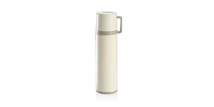 Thermosflasche mit Tasse CONSTANT CREAM 0,7 l, aus Edelstahl
