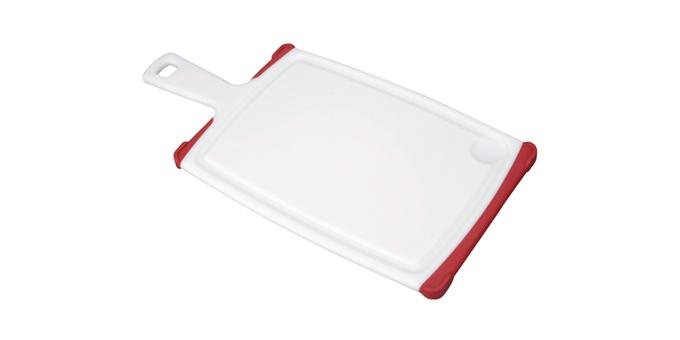 TESCOMA krájecí deska s rukojetí COSMO 35x18 cm, červená
