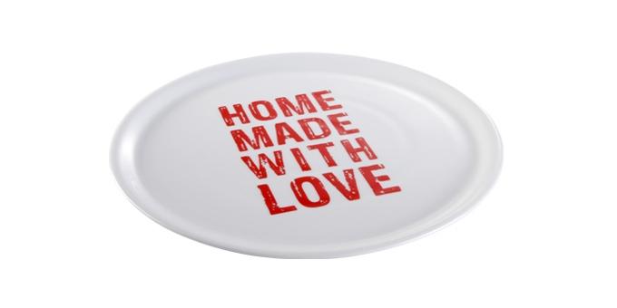 TESCOMA talíř na pizzu HOME MADE WITH LOVE ø 33 cm, červená