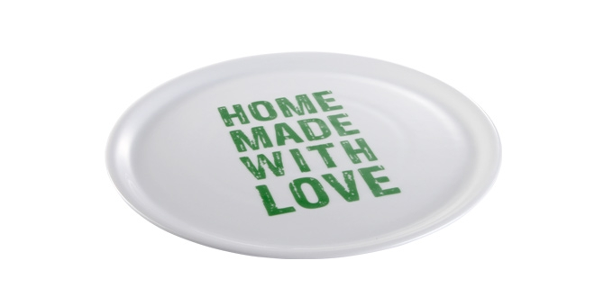 TESCOMA talíř na pizzu HOME MADE WITH LOVE ø 33 cm, zelená
