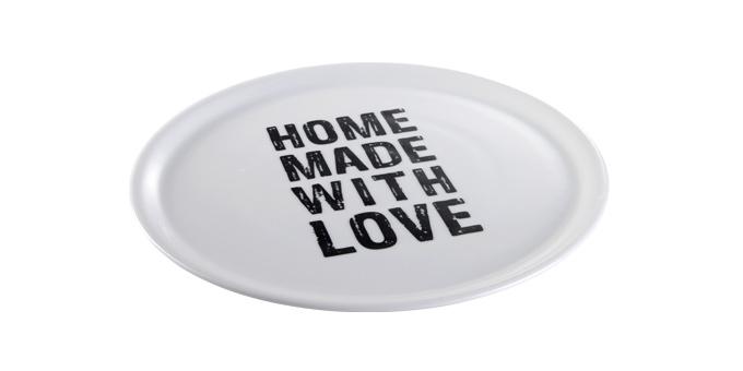 TESCOMA talíř na pizzu HOME MADE WITH LOVE ø 33 cm, černá