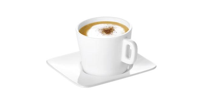 Šálka na cappuccino GUSTITO, s tanierikom