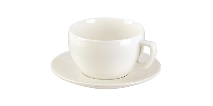 Chávena de chá CREMA,  c/ pires
