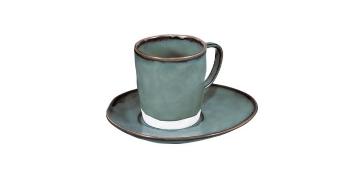 Šálka na espresso LIVING, s tanierikom