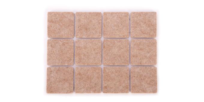 Selbstklebende Bodengleiter PRESTO 30 x 30 mm, 24 St.