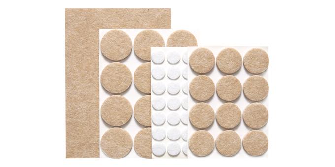 Samolepiace podložky pod nábytok PRESTO, súprava 60 ks