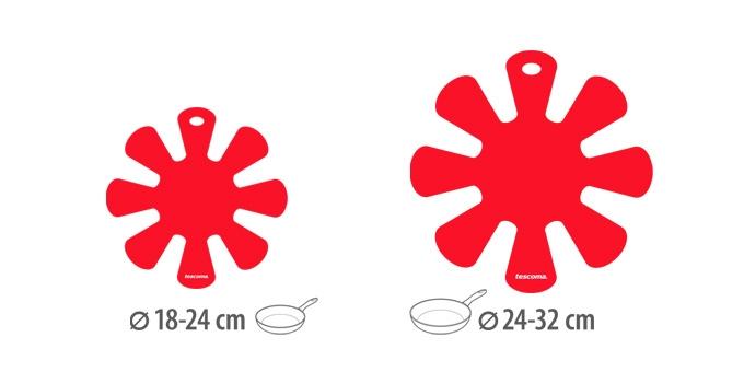 TESCOMA proložka mezi pánve PRESTO, malá a velká, 2 ks, červená