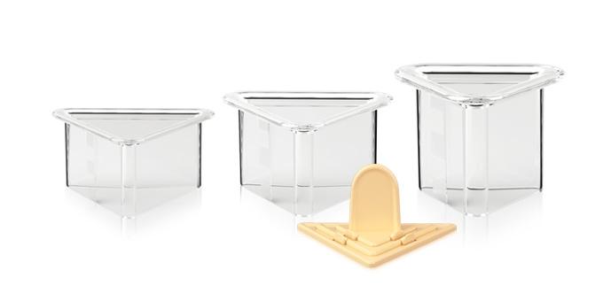 Formičky na tvarovanie pokrmov PRESTO Food Style, trojuholníky, 3 ks