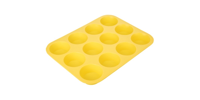 TESCOMA forma 12 muffinů DELÍCIA SILICONE, žlutá