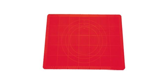 TESCOMA vál na těsto silikonový DELÍCIA 48x38 cm, červená