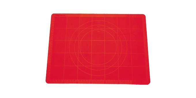 TESCOMA vál na těsto silikonový DELÍCIA 58x48 cm, červená