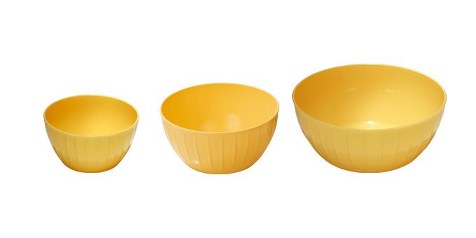 TESCOMA mísy plastové DELÍCIA, sada 3 ks, žlutá
