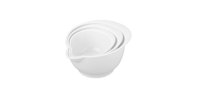 TESCOMA misky plastové DELÍCIA, sada 3 ks, bílá