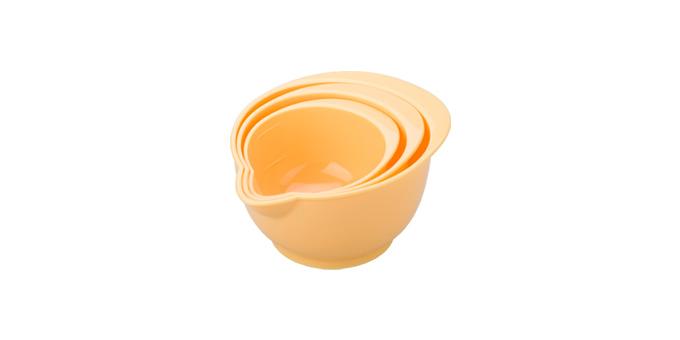 TESCOMA misky plastové DELÍCIA, sada 3 ks, žlutá