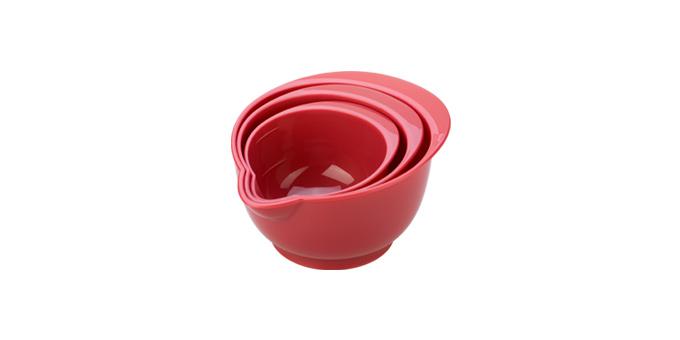 TESCOMA misky plastové DELÍCIA, sada 3 ks, červená