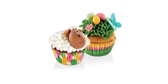 Muffin-Minikörbchen DELÍCIA ø 4 cm, 100 St., Frühlingsmotive
