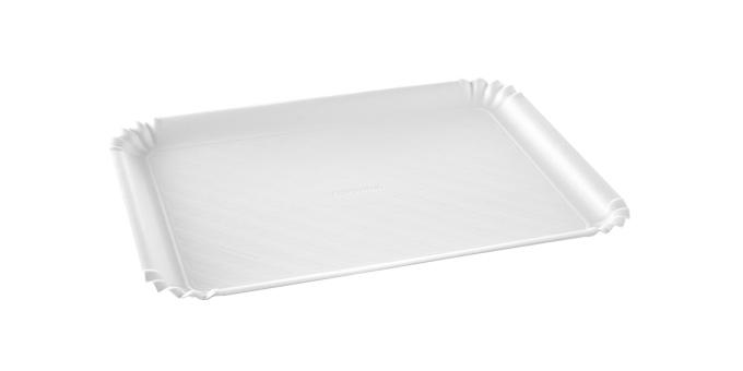Taca papierowa DELÍCIA 42x31 cm, biała, 2 szt.