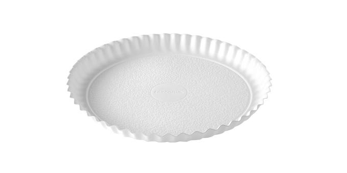 Podnos DELÍCIA ø 30 cm, biely, 3 ks