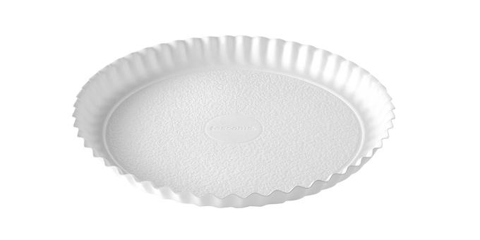 Bandeja DELÍCIA ø 34 cm, blanco, 2 pzs