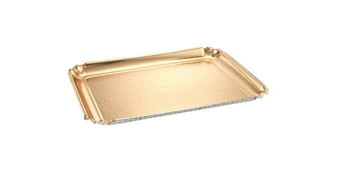 Podnos DELÍCIA 35x25 cm, zlatý, 3 ks