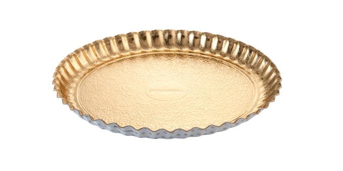 Taca papierowa DELÍCIA ø 34 cm, złota, 2 szt.