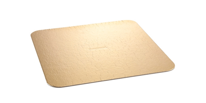 Tabuleiro p/ bolo DELÍCIA 30x30 cm, dourado, 2 pcs