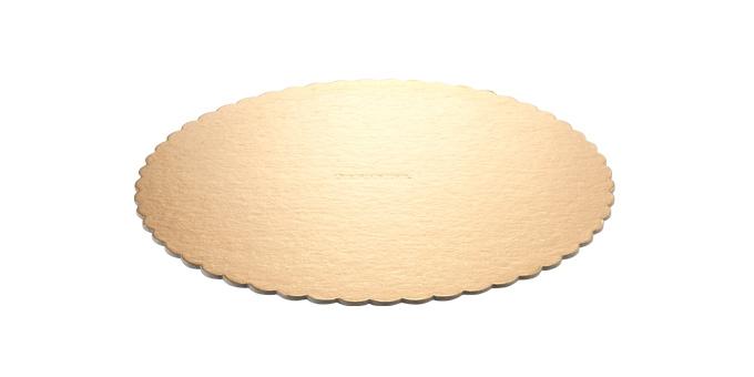 Tabuleiro p/ bolo DELÍCIA ø 30 cm, dourado, 2 pcs
