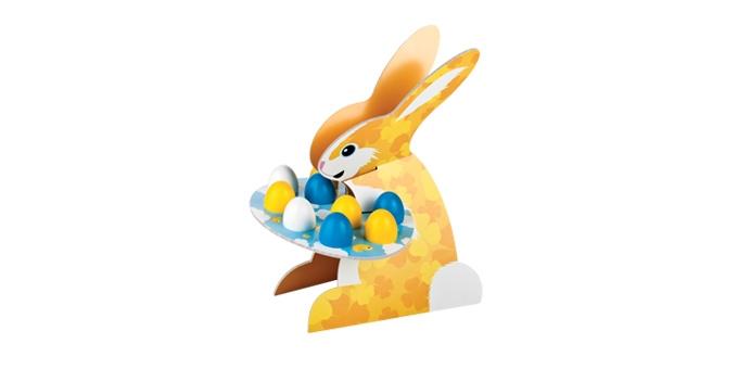 Etažérka zajačik DELÍCIA, kraslice a kuriatka
