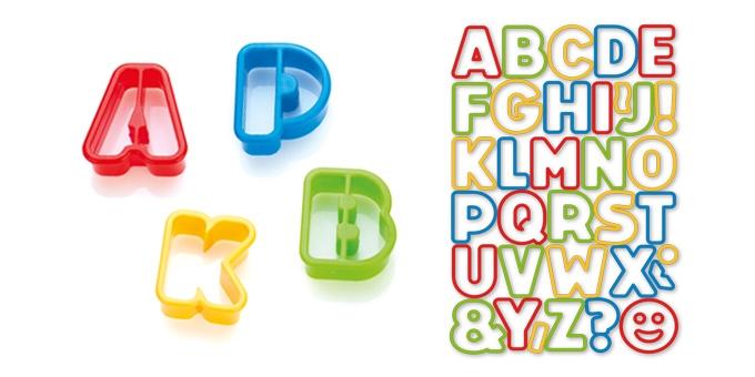 Vykrajovátka abeceda DELÍCIA KIDS, 34 ks