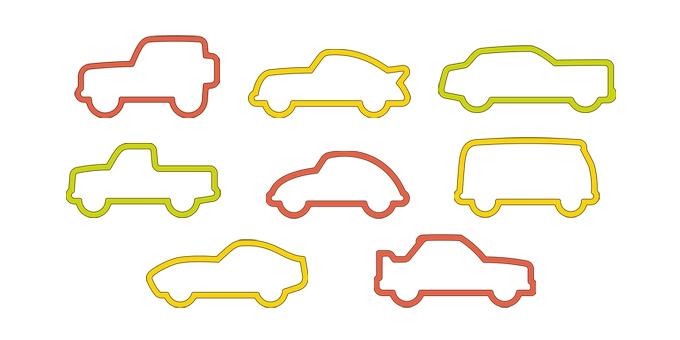 Corta massas carros DELÍCIA KIDS, 8 pcs