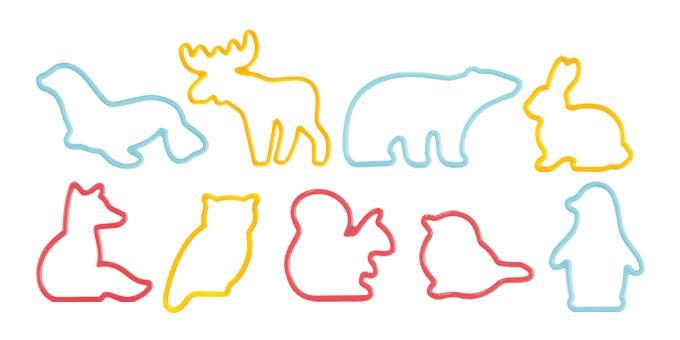 Corta massas animais DELÍCIA KIDS, 9 pcs