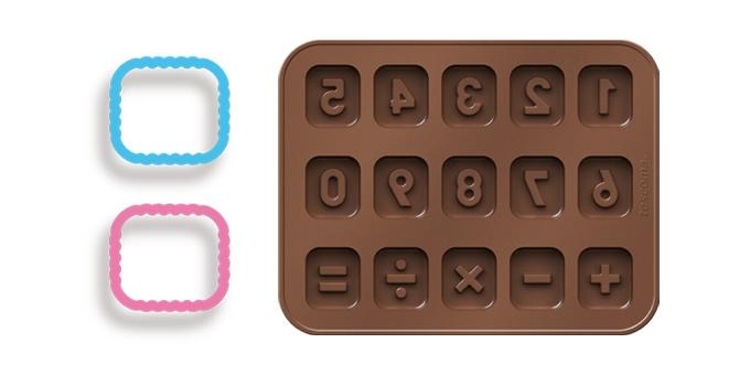 Formičky na čokoládu DELÍCIA KIDS, čísla