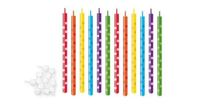 TESCOMA dortové svíčky DELÍCIA KIDS 10 cm, 12 ks, tečky