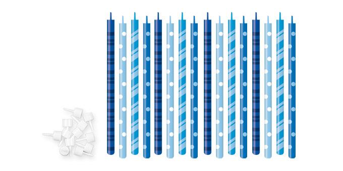 TESCOMA dortové svíčky DELÍCIA KIDS 12 cm, 16 ks, modrá