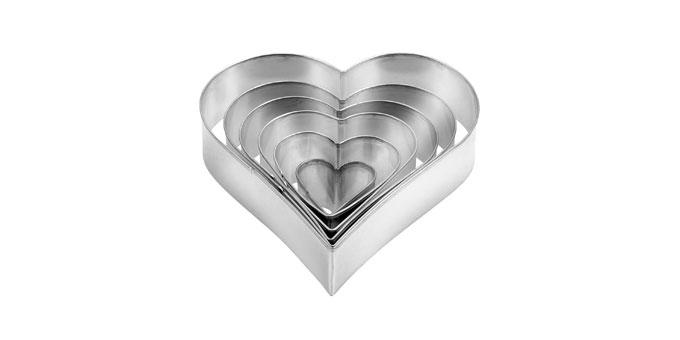 Corta massas coração DELÍCIA, 6 pcs