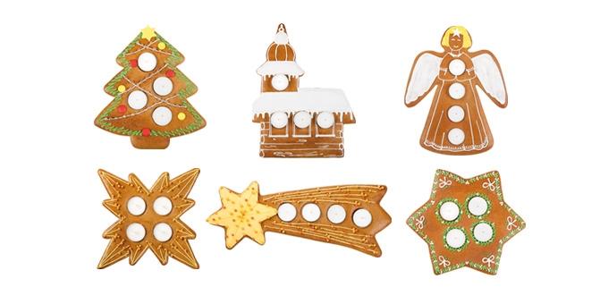 Adventné svietniky DELÍCIA, 6 tvarov
