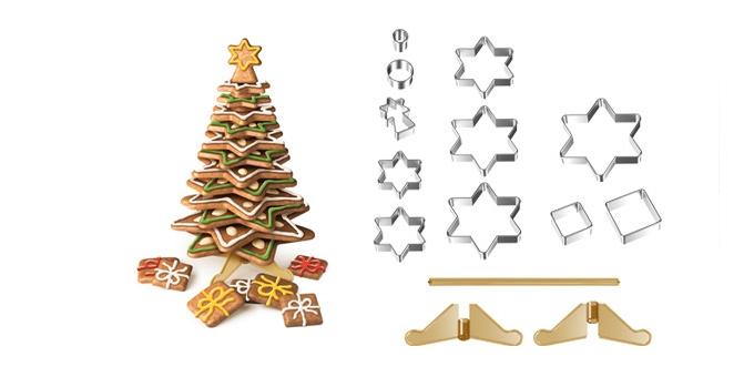 Vánoční stromeček DELÍCIA, souprava vykrajovátek