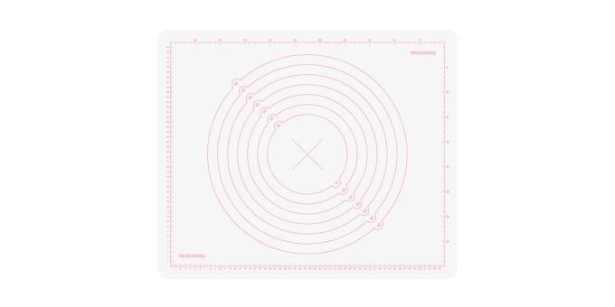 TESCOMA vál silikonový DELÍCIA DECO 55x45 cm, bílá