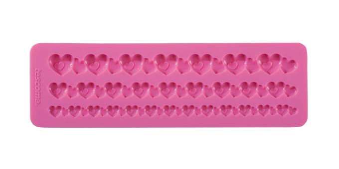 Moldes de silicone DELÍCIA DECO, recorte de corações