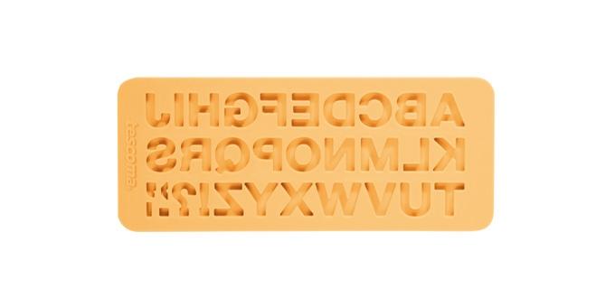TESCOMA silikonové formičky DELÍCIA DECO, abeceda, žlutá