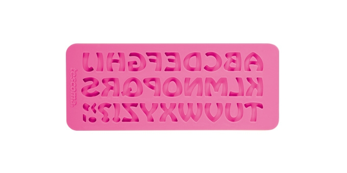 Silikonové formičky DELÍCIA DECO, abeceda retro