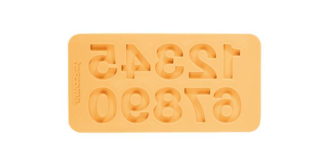 TESCOMA silikonové formičky DELÍCIA DECO, čísla, žlutá
