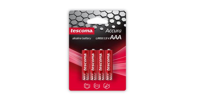 Alkalická AAA baterie ACCURA, 4 ks