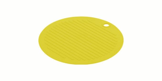 TESCOMA podložka pod nádobí FUSION ø 20 cm, světle žlutá