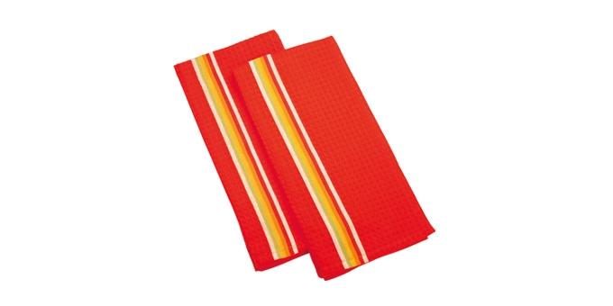 TESCOMA utěrka na nádobí PRESTO TONE 70x50 cm, 2 ks, mix, červená