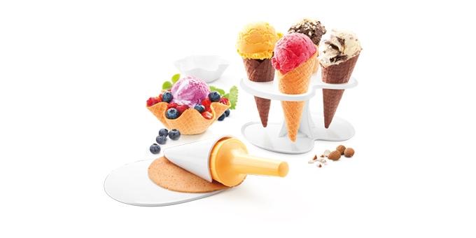 Jgo para conos y tulipas de helado TESCOMA DELLA CASA