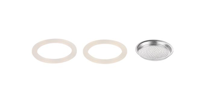Silikonowa uszczelka 2 szt. i filtr PALOMA 1 filiżanka