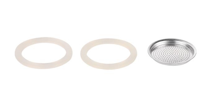Silikónové tesnenie 2 ks a filter PALOMA, 6 šálok