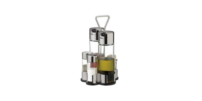 Souprava olej-ocet-sůl-pepř-párátka CLUB