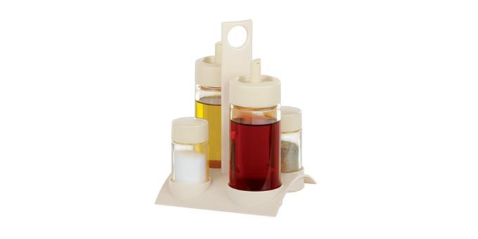 Súprava olej,ocot,soľ a korenie SOLO